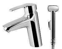 Bliss 8 - Смеситель для умывальника  с гигиеническим душем  и донным клапаном