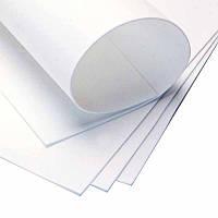 Фоамиран листовой белый, 50/50 см, толщина 1 мм
