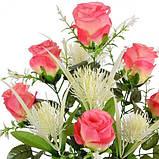 Искусственные цветы букет роз Фэнтези, 63см, фото 2