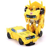 """Дитяча Іграшка для хлопчиків Робот-Трансформер Бамблбі """"Роботи під прикриттям"""" з трансформацією 1-крок, 12 см"""