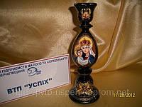 Сувенир Подсвечник деревянный Божья мать