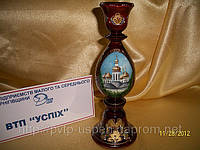 Сувенир Подсвечник деревянный Киево-печерская Лавра