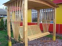Качеля деревянная  для дачи и сада