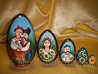 Свенир Матрешка-яйцо деревянное