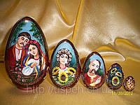 Матрешка-яйцо деревянное