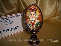 Яйцо на подставке пасхальное среднее Святой Николай