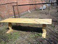 Стол деревянный для дачи и сада