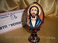 Сувенир Яйцо деревянное среднее Иисус