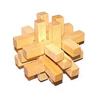 Сборная деревянная головоломка 14 брусков