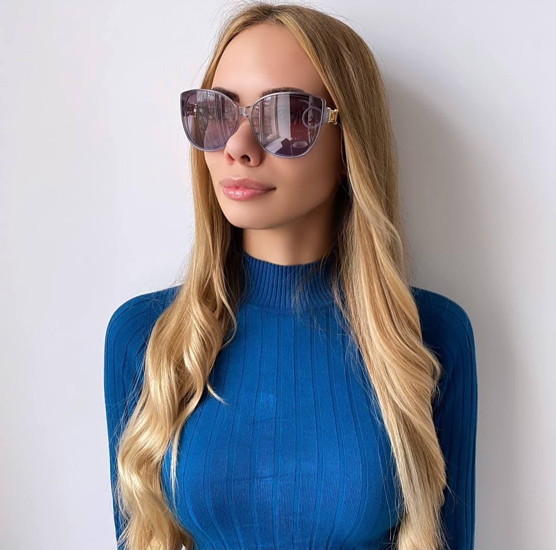 Сонцезахисні окуляри жіночі сірі