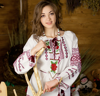 Красивая рубашка для женщин с вышивкой, фото 1