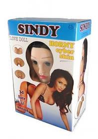 Надувная секс кукла с вставкой из киберкожи и вибростимуляцией SINDY 3D