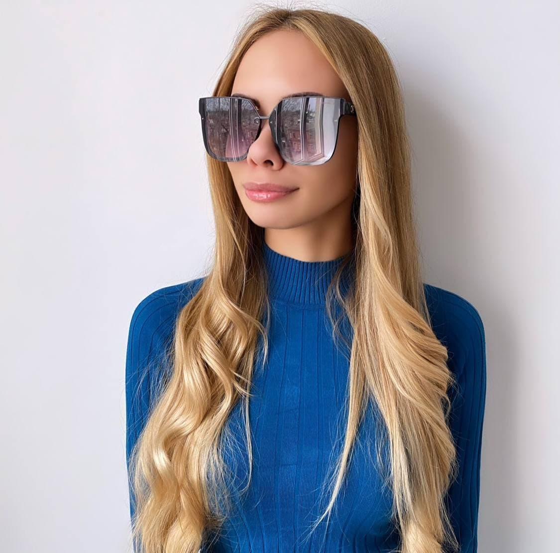 Женские  черные солнцезащитные очки