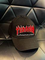 Кепка модная THRASHER стильная черная молодежная хайп беболка весна лето