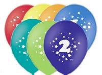 """Воздушные шары цифра """"2"""""""