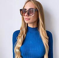 Жіночі сонцезахисні окуляри коричневі метелик, фото 1