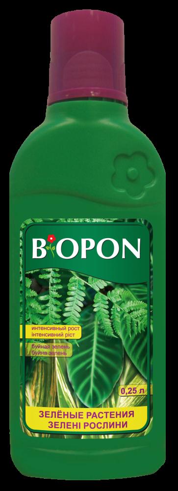 Добриво рідке для зелених рослин 0,25 л, Biopon