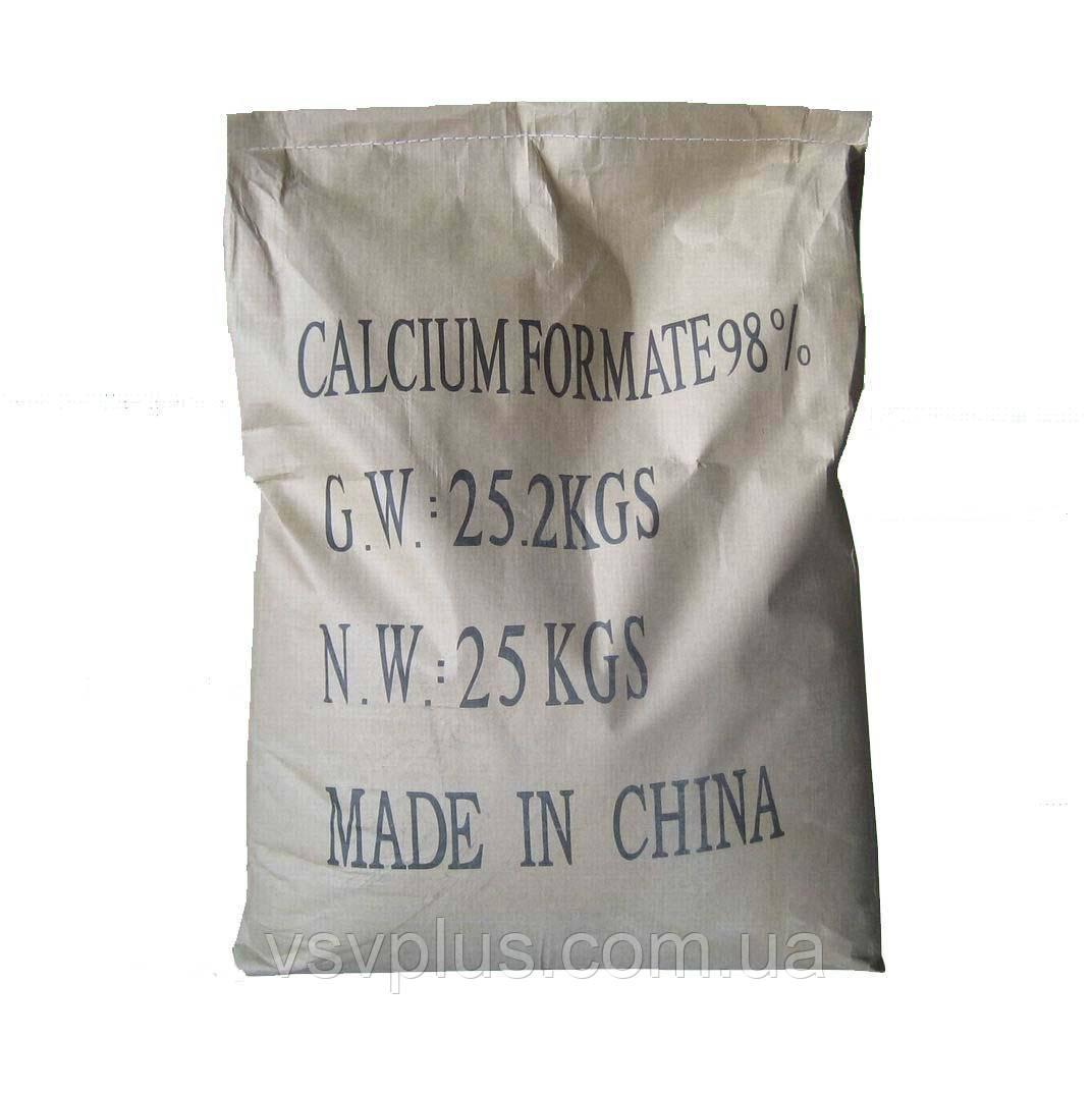 Противоморозная добавка Формиат кальция Китай сухой мешок 25 кг