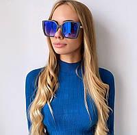 Жіночі сині сонцезахисні окуляри хамелионы, фото 1
