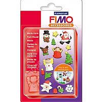 """Подарочная фирменная форма молд FIMO """"Зимние праздники""""для формовки полимерной глины,15 фигур"""