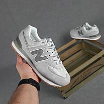 Мужские кроссовки New Balance 574 светло серые SIN, фото 3