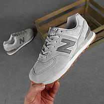 Мужские кроссовки New Balance 574 светло серые SIN, фото 2