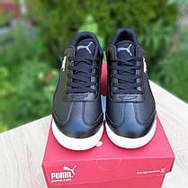 Мужские кроссовки Пума Roma BMW чёрные, фото 2