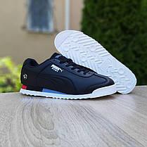 Мужские кроссовки Пума Roma BMW чёрные, фото 3