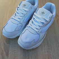 Жіночі кросівки Адідас Falcon білого кольору, фото 2