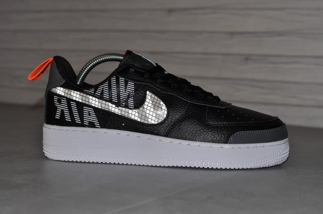 Мужские кроссовки Nike Air Force Under Construction Black White