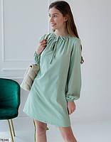 Вільний міні сукня з зав'язочками з 42 по 48 розмір, фото 3