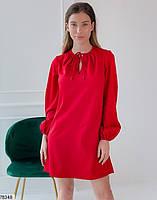 Вільний міні сукня з зав'язочками з 42 по 48 розмір, фото 4