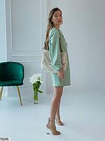 Вільний міні сукня з зав'язочками з 42 по 48 розмір, фото 5