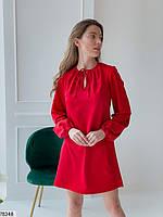 Вільний міні сукня з зав'язочками з 42 по 48 розмір, фото 7