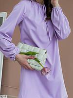 Вільний міні сукня з зав'язочками з 42 по 48 розмір, фото 6