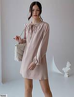 Вільний міні сукня з зав'язочками з 42 по 48 розмір, фото 2