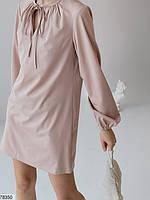 Вільний міні сукня з зав'язочками з 42 по 48 розмір, фото 8