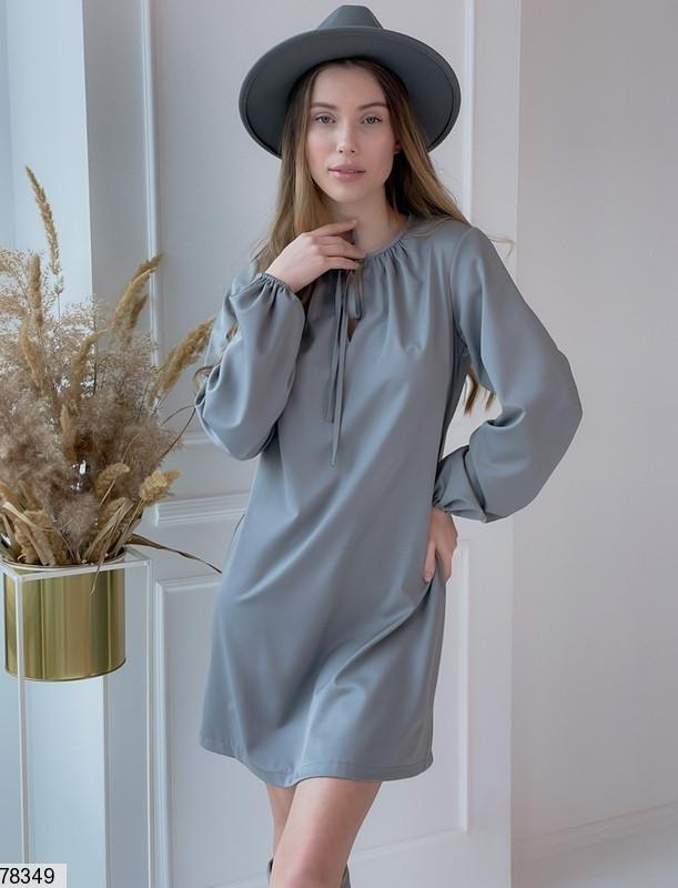 Вільний міні сукня з зав'язочками з 42 по 48 розмір