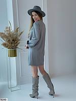 Вільний міні сукня з зав'язочками з 42 по 48 розмір, фото 9