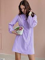 Вільний міні сукня з зав'язочками з 42 по 48 розмір, фото 10