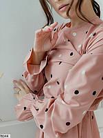 Романтичное женское платье приталенного кроя в горошек с 42 по 48 размер, фото 6