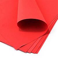 Фоамиран листовой красный, 50/50 см