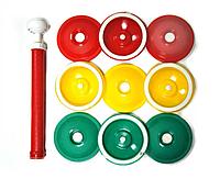 Вакуумные крышки для консервирования 2Life ВАКС 9 шт в комплекте Green/Yellow/Red (n-177)