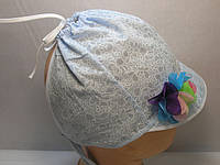 Косынка - панамка голубая, фото 1