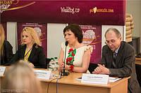 """Пресс-конференция на выставке """"Свадьба и выпускной бал 2013"""", посвященная вопросам развития свадебной индустрии и тенденций свадебной и вечерней моды."""