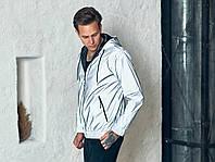 Мужская светоотражающая ветровка из плащевой ткани с подкладкой Tailer, размеры от 48 до 56