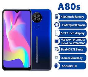 "Смартфон Blackview A80s Blue 8 ядер 4\64gb 4200мАч 6.21""НОВИНКА"