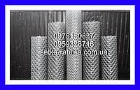 Сетка рабица  Днепрометиз оцинкованнаяячейка 35 на 35 мм  диаметр проволоки 2 мм  высота .2200 мм, фото 1
