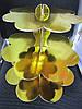 Подставка для маффинов 3-х ярусная картон золотая (код 01823)