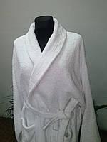 Махровый халат белый L (р.48) Пакистан